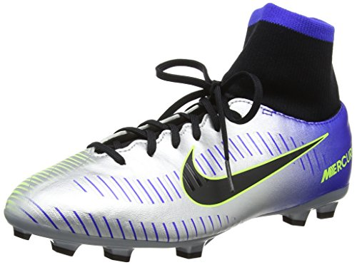 Nike Jr Mercurial Vctry 6 DF NJR FG, Zapatillas de Deporte Unisex niño, Multicolor (Racer Blue/Black-Chr 407), 36.5 EU