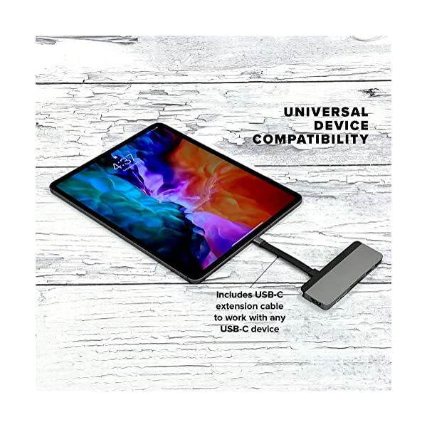 HyperDrive USB C Hub, Sanho Duo 7-in-2 USB-C Adapter for MacBook Pro Air with Magnetic Grip Thunderbolt 3 USB-C 40Gbps…