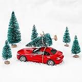 MELLIEX 60 Stück Miniatur Weihnachtsbaum Künstlicher Mini Modell Weihnachtsbaum Kunststoff Winter Ornamente für Tischdeko, DIY, Schaufenster - 3