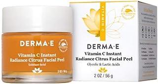 Derma E Vitamin C Instant Radiance Citrus Facial Peel, Resurface Skin, Non-Abrasive Peel, Smooth Skin's Texture