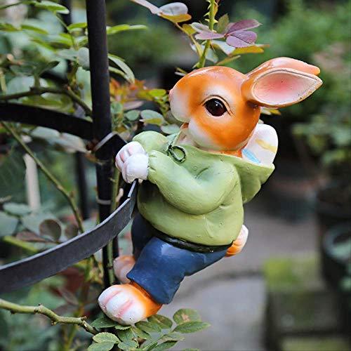 PET HOUND Estatua Escultura Decoración Figura Conejo Maceta Colgante Decoración Animal De...