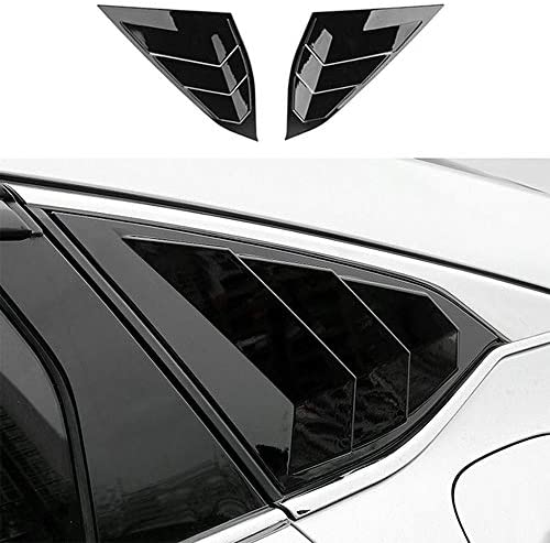 Boltry ABS Rear Side Window Louvers Air Vent Scoop Shades Cover Blinds Trim for Honda Accord product image