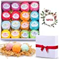Bath Bombs Set 16 Shea Butter Dry Skin Moisturize Lush Bath Bombs Gift Set Handmade Organic Spa Bubble Bath Birthday Mothers Day Christmas Gifts for Women/Wife/Girl/Her/Him/Girlfriend