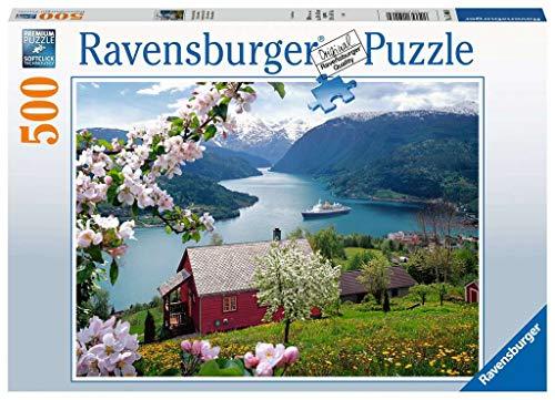 Ravensburger Puzzle 15006 - Skandinavische Idylle - 500 Teile Puzzle für Erwachsene und Kinder ab 10 Jahren, Landschaftspuzzle mit Norwegen-Motiv