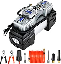 OlarHike 12V Portable Air Compressor Tire Inflator with Dual Cylinder Pump, Digital Inflation Accuracy, Auto Shut-Off, LED Night Light, and Accessories for Cars, Bicycles, and Sports Equipment