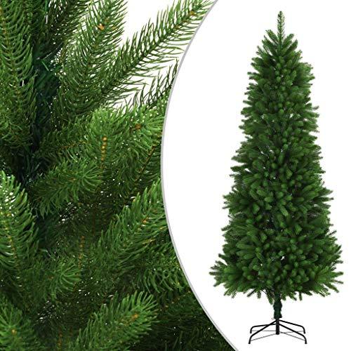LDM Árbol de Navidad Artificial Agujas realistas Interior/Exterior con 1560 Ramas Fiesta de 240cm Festival Tradicional Decoración de Navidad Verde