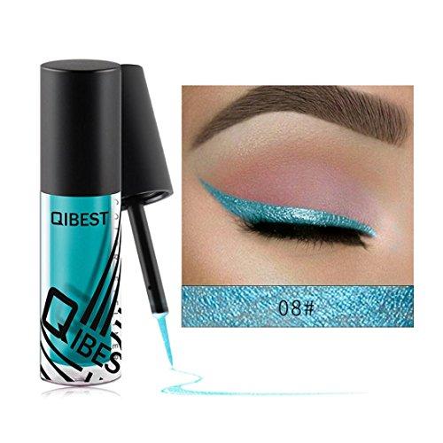 Coloré(TM) Palettes de maquillage Eyeliner liquide fard à paupières brillant Eyeliner liquide fard à paupières brillant (H)