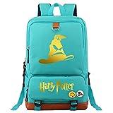 NYLY Harry P Mochila portátil, Hogwarts Universidad Clasificado Sombrero, Casual Daypacks multifunción Mochila de Moda Bolsa de Escuela M Teal