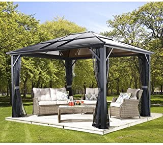 Sojag Meridien Sun Shelter, 12' x 16', Charcoal (500-5157871)
