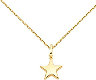 2d3afe6a0425 Amazon.es: Estrellas Colgantes - Oro amarillo: Joyería