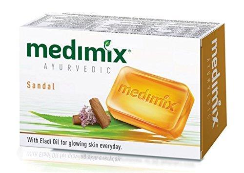 Medimix Medimix 3 x AyurvedaKräuterSeife mit Sandal & Eladi Ölen 125g x 3 (Pack of 3) Mit Wirkung für Hautunreinheiten