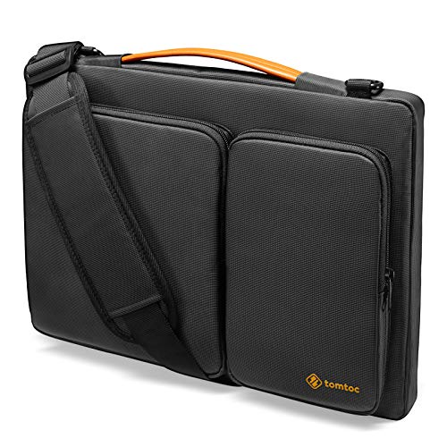 tomtoc 360 Protective Laptop Shoulder Bag for 13-inch MacBook Air 2018-2021 M1/A2337 A2179, MacBook Pro 13.3 2016-2021 M1/A2338 A2251 A2289, 12.3 Surface Pro X/7/6/5/4, Waterproof Notebook Case Sleeve