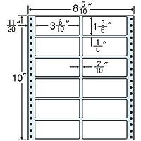 東洋印刷 タックフォームラベル 8 5/10インチ ×10インチ 12面付(1ケース500折) MM8F