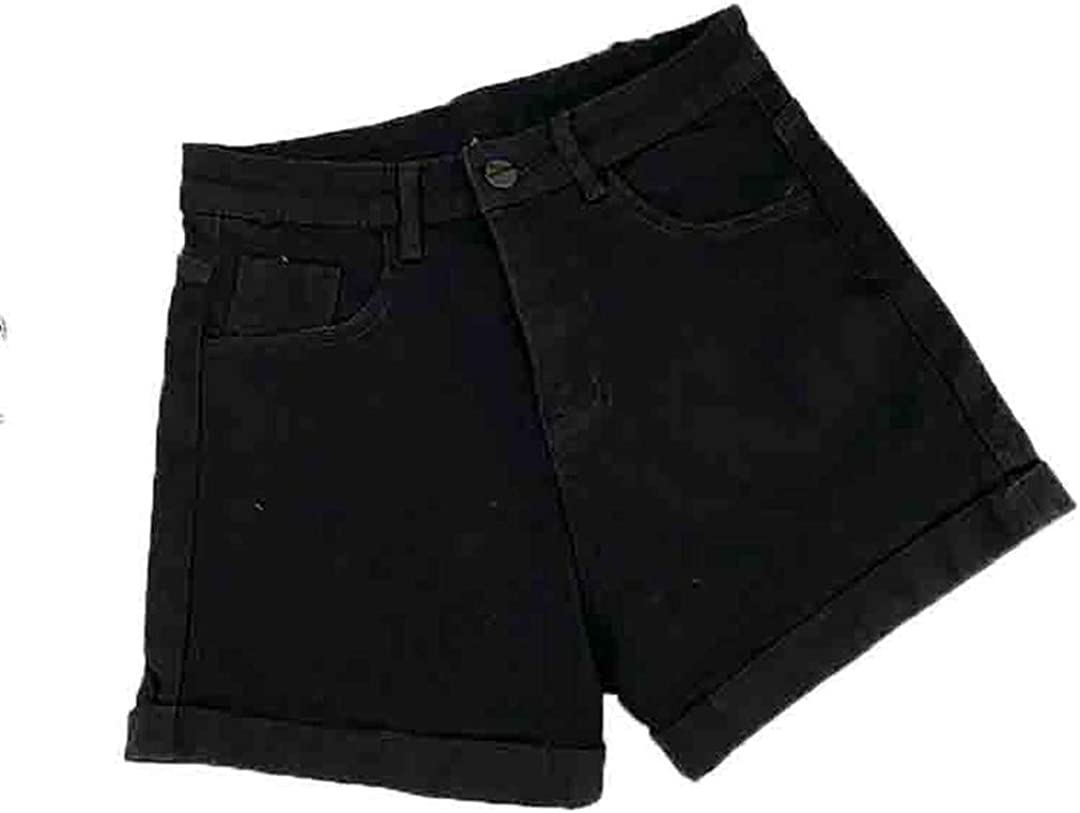 YHK Denim Shorts Women Summer Brief Elastic Package Hips Jeans Ladies Shorts