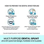 2 x Gouttière Dentaire Nocturne Thermoformable Bruxisme Protège Grincements de dents - orthèse contre le problèmes de l'ATM #2