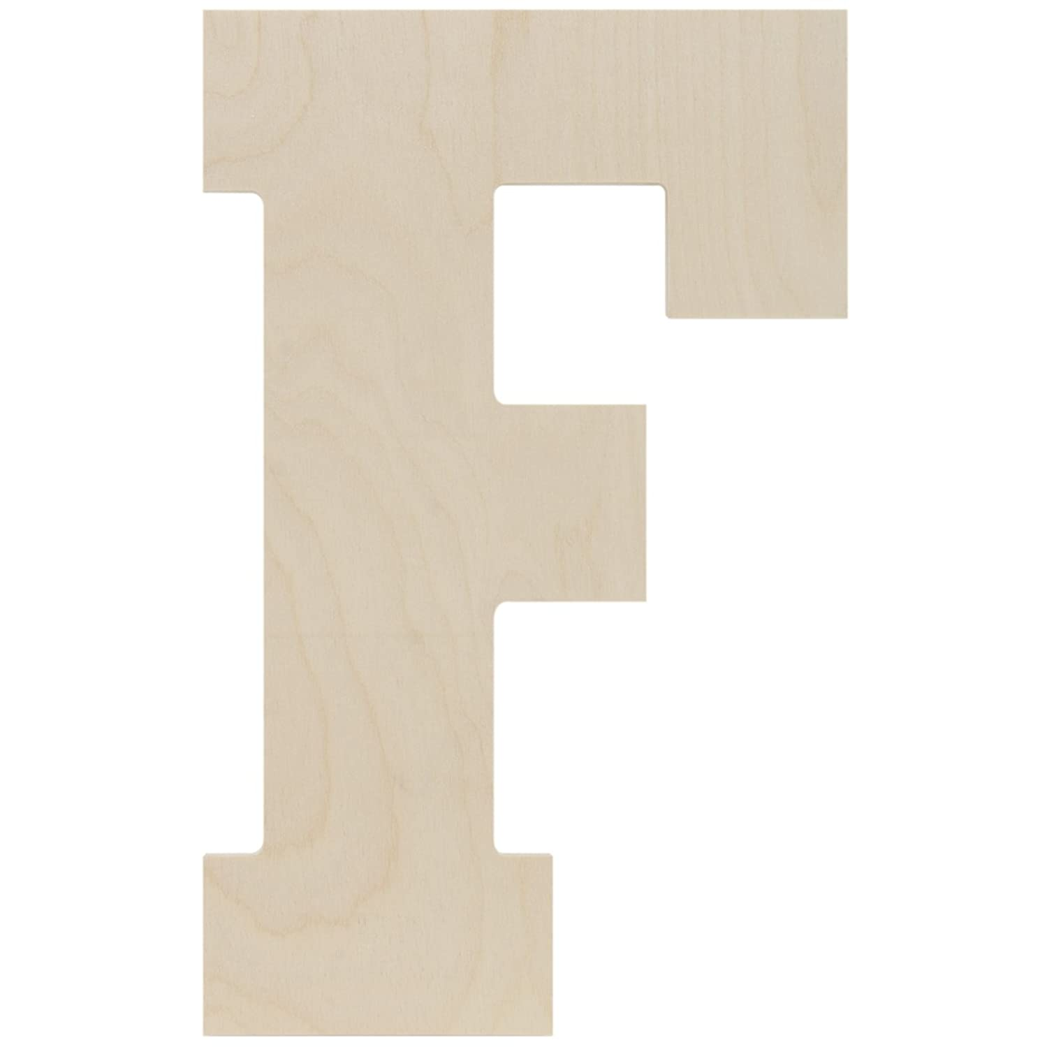 MPI Baltic Birch Collegiate Font Letters and Numbers, 13.5-Inch, Letter F