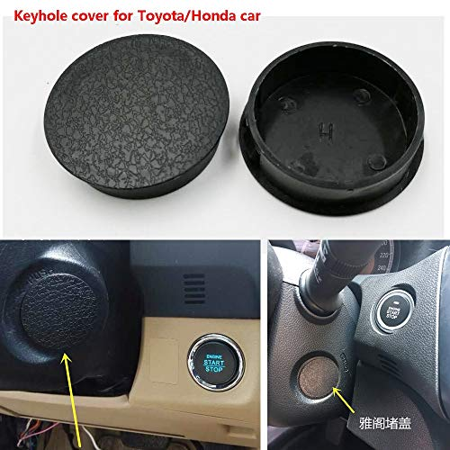 Key hole cover for Toyota and Honda Car special use for car add push start stop system (Color : For toyota)
