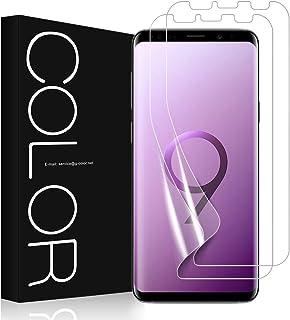 Galaxy S9 Plus フィルム G-Color 気泡ゼロ ケースと干渉せず 貼り直しが可能 手触り抜群 Samsung Galaxy S9 Plus / S9+ 対応 6.2 インチ (保護フィルム2枚)