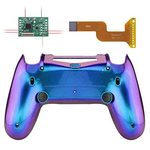 eXtremeRate Dawn 2.0 Remap kit Trigger Stop per Playstation 4 Joystick CUH-ZCT2 Scheda&Cover Posteriore&2 Tasti Posteriori&Blocco Griletto per PS4 Controller JDM-040/050/055(Camaleonte Viola Blu)