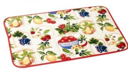 schnäppchenmark111 Fussmatte Teppich Küchenmatte 40 x 60 cm mit Früchte Neu