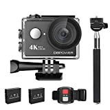 Icefox Action Cam, 4K Sports Action Kamera WiFi 2.0 Zoll FHD LCD Display Wasserdicht Helmkamera mit...