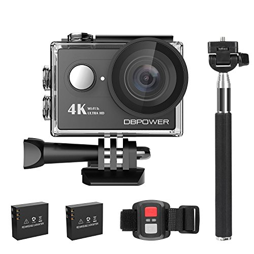 DBPOWER - Action Camera 4K, fotocamera sportiva da 2.0pollici,...