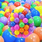 OCC 100 x Multi-Colour Kids Baby Child Soft Play Plastic Balls Toy for Ball Pit Swim Pool