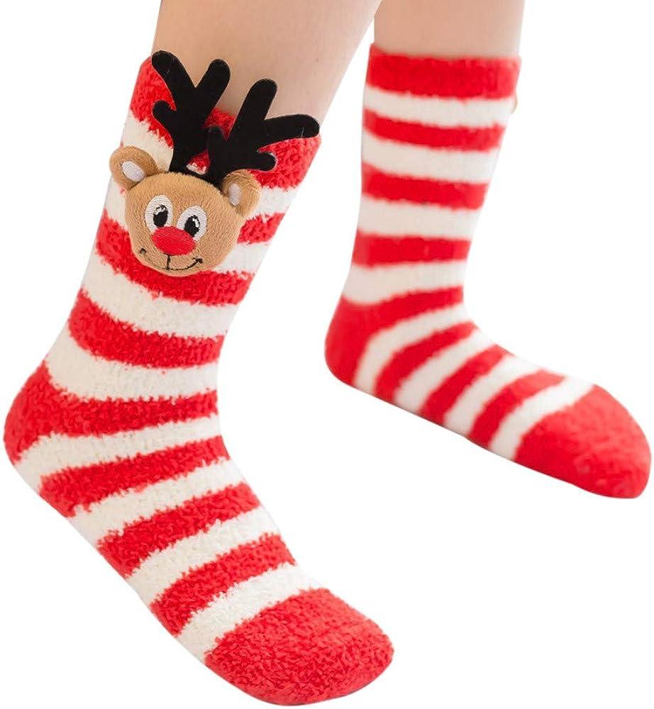 yoyorule Unisex Casual Christmas Cute Cartoon Animal Thickness Stockings Sleeping Socks
