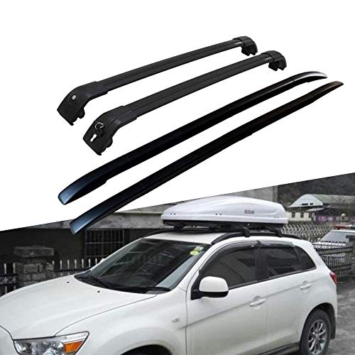 Titopena Roof Rack Cross Bars fit for Mitsubishi ASX Outlander Sport 2010-2021 Side Rails Aluminum Cross Bar Replacement for Rooftop Cargo Carrier Bag Luggage Kayak Canoe Bike Snowboard Skiboard(4PCS)