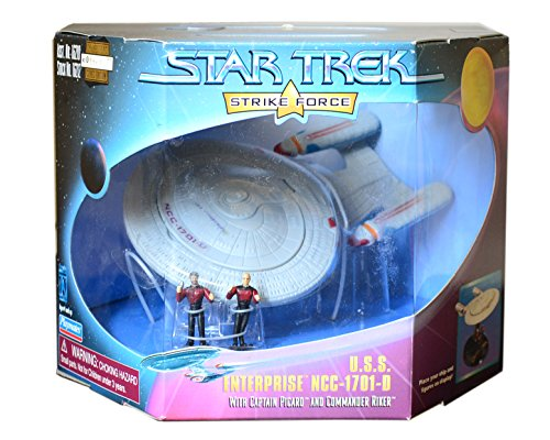 Barbie Star Trek U.S.S. Enterprise NCC-1701-D with Picard and Riker
