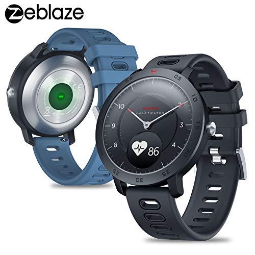 hybrid smartwatch EDtara Regalo per donne uomini Zeblaze Hybrid Smartwatch Sfigmomanometro Sfigmomanometro Smart Watch Training Protocollo del sonno per Android iOS blu