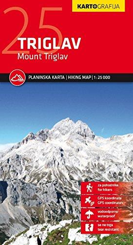 Triglav Mount kartografija GPS r/v wp: Planinska Karta - Hiking Map - 1 :...