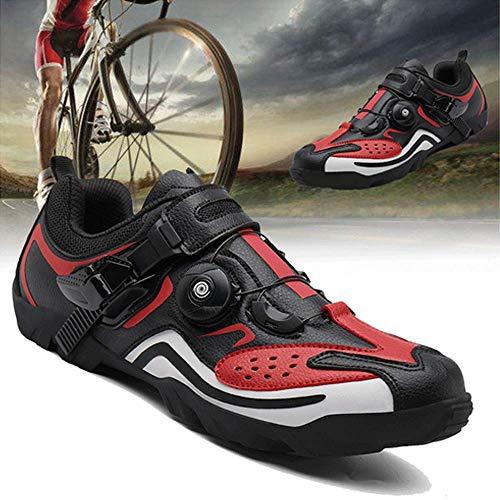 Zapatillas De Ciclismo Zapatillas De Bicicleta Zapatillas De Ciclismo De Montaña para Hombre Zapatillas De Ciclismo De Montaña MTB Zapatillas De Triatlón,Red-39