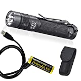 eagletac D25A Clicky MKII 405 LED Lumen (286 ASIN Lumen) EDC Pocket Flashlight with USB Rechargeable Lithium-ion AA Battery & LumenTac Charging Cable