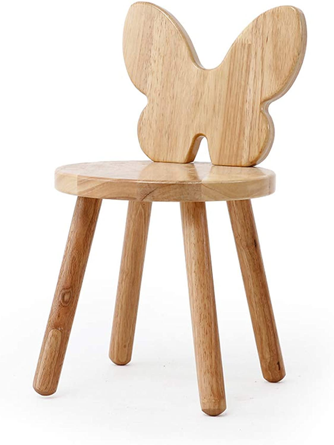 HLJ Simple Home Cartoon Stool Fashion Change shoes Bench Personality Solid Wood Small Bench Creative Chair