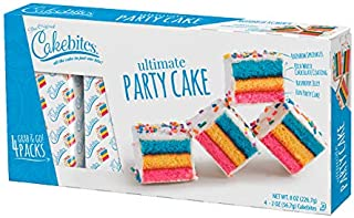 The Original Cakebites by Cookies United, Grab-and-Go Bite-Sized Snack, Ultimate Party Cake, 4 Pack of 3 Cookies