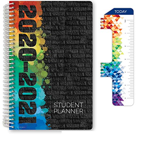 Dated Middle School or High School Student Planner for Academic Year 2020-2021 (Block Style - 5.5