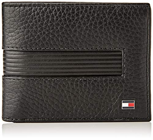 Tommy Hilfiger Downtown Mini CC Wallet & KEYFOB, Piccola Pelletteria Uomo, Nero, One Size