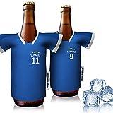 vereins-Trikot-kühler Home für Schalke 04 Fans | 2er Fan-Edition| 2X Trikots | Fußball Fanartikel Jersey Bierkühler by Ligakakao