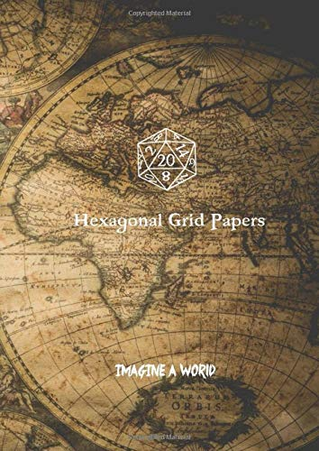 Hexagonal Grid Papers: Imagine a World - DMs RPG Hex Grids for gaming