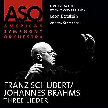 Schubert: Three Lieder