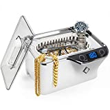 Ultrasonic Cleaner, LifeBasis Professional Jewelry Cleaner Machine 600ml with 5 Digital Timer Watch Holder for Jewelry Necklaces Rings Glasses Watches Dentures