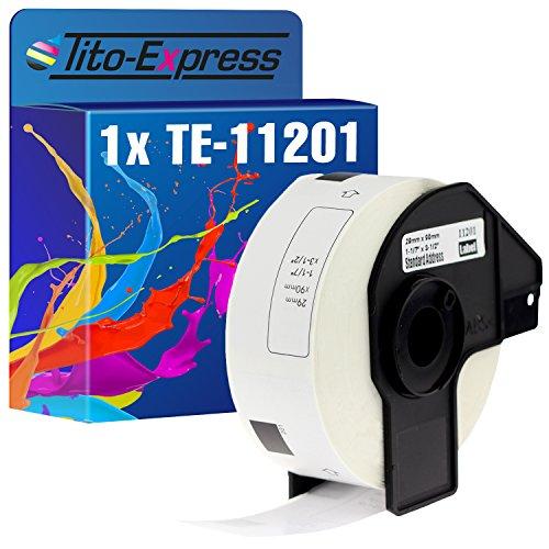 Tito-Express PlatinumSerie 1x Etiketten mit Trägerspule kompatibel mit Brother DK-11201 29mm x 90mm 400 Labels   Für Brother P-Touch QL-1050 QL-1060 N NX QL-1100 QL-1110 NWB QL-500 A BS BW