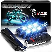 MZS LED Light Kit Multi-Color Neon RGB Strips Wireless Remote Controller Compatible with ATV UTV Cruiser Harley Davidson Ducati Suzuki Honda Triumph BMW Kawasaki Yamaha (Pack of 8)