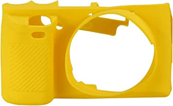 Acouto Soft Silicone Camera Case Protective Cover with Easy Access Design for Sony A6000 Cameras (Yellow)