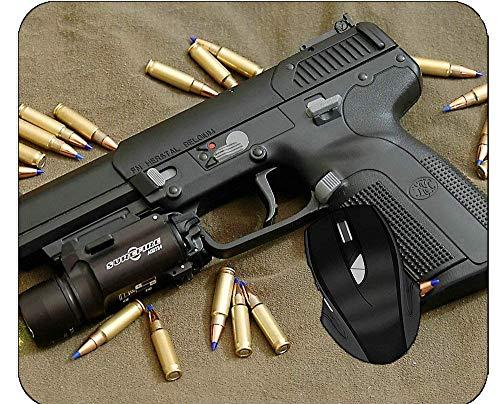 N\A Soporte de muñeca Antideslizante: Alfombrilla para Mouse Liviana Fabrique Nationale Five-Seven Handgun Magnum Surefire Light Pistol Mousepad