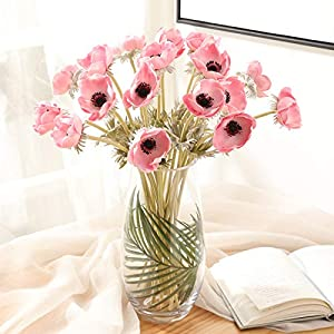 Real Touch Artificial Anemone PU Flower Wedding Home Decoration 1pcs