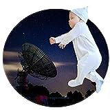 ATOMO - Zerbino rotondo, 70 cm, 80 cm, 100 cm, notte stella cielo ricevitore