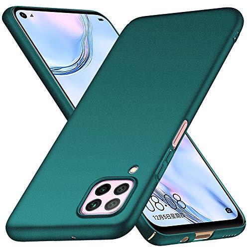 ORNARTO Hülle für Huawei P40 Lite, Ultra Dünn Schlank Anti-Scratch FeinMatt Einfach Handyhülle Abdeckung Stoßstange Hardcase für Huawei P40 Lite(2020) 6,4 Zoll Grün