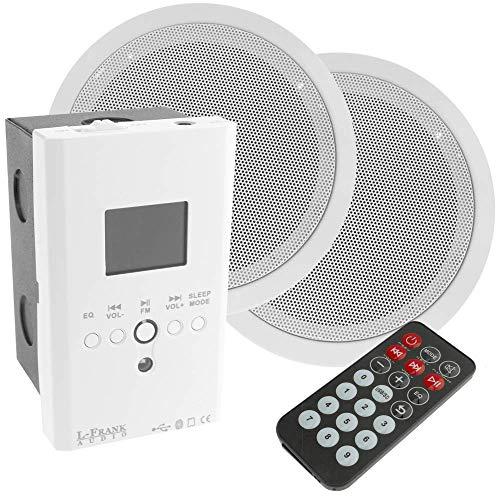 BeMatik - Amplificador Reproductor Multimedia con Altavoces empotrables de Techo